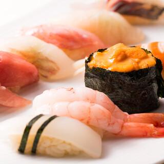 新鮮ネタのお寿司が楽しめる!
