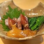 石臼挽き手打 蕎楽亭 - 蛍烏賊の酢味噌