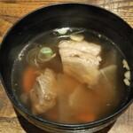 128289999 - 牛汁(ステーキ丼のセットスープ)