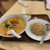 中国広東料理 聚宝 - 料理写真:タンタン麺と半チャーハン