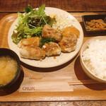 チャムアパートメント - 【鶏の唐揚おろしポン酢定食 ¥1.100】