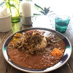 128295116 - チキンキーマ+トマトカレー+お肉のカレー