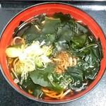 菜のはな - 菜のはな@一ノ関 わかめそば(380円)