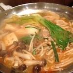 中華酒場 サモハン - 坦々鍋〜いい感じになりました♪
