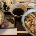ながた - 料理写真:エビ天付きしめん定食(1,000円)