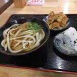 セルフうどん麺太郎 - 朝から食べすぎた