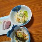お食事処 きむら - ポテサラ+酢の物