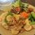 cafe えにしえ - 料理写真:長芋と豚バラの山椒炒め(ドリンクとデザートセット)1,210円