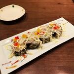 128307539 - 海老とアボカドの天ぷら巻き寿司。580円+税