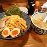 きょうすけ - 鶏白湯魚介醤油つけ麺(大)