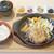 金澤ミート - 全然熱々でない鉄板にのるハンバーグ
