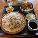 くいものや ラ・ネージュ - ざるそば・ミニヒレソースカツ丼セット(1150円)