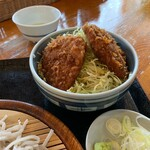 くいものや ラ・ネージュ - ざるそば・ミニヒレソースカツ丼セット(1150円) ミニヒレソースカツ丼