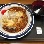 名代 富士そば - カレーかつ丼(スープ付)¥500
