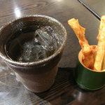 宮きしめん竹三郎 - 梅酒とお通し
