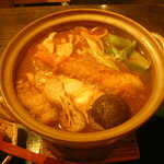 宮きしめん竹三郎 - 海老味噌煮込みきしめん
