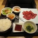 Yakinikuheijoen - 神戸牛ロース(ランチ)セット¥1,650