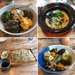 蕎麦 ふじおか - せいろそば(季節の野菜料理と漬物付)