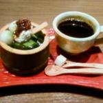 らんちょす - 宇治抹茶パフェと食後のコーヒー