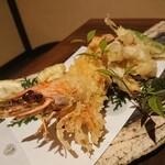 酒肴屋くやすけ - 車海老天ぷら