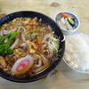 一茶宮代 - 料理写真:たぬき蕎麦&半ライス