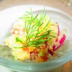 ノーザンテラスダイナー - 白身魚の香草マリネ タブレ仕立て ライムの香り【2020年3月】