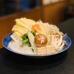 ぼたん鍋処 如月庵 - お野菜