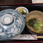 麺どころ かとう - 衣笠丼とミニ蕎麦