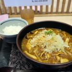 万葉そば - 料理写真:カレー南蛮そば+ご飯セット