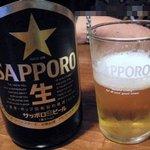 東京豚骨拉麺 ばんから - 瓶ビール 中500円
