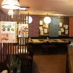 國吉食堂 - お店入り口から見える室内です。カウンターが右手。お席が左手になります。