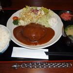ステーキ&煮込みハンバーグ SAKAI - ハンバーグランチ(\750)