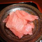 ステーキ&煮込みハンバーグ SAKAI - 漬物