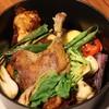 キッチンカリオカ - 料理写真:北海道滝川産 合鴨肉コンフィと季節の蒸し野菜贅沢盛り