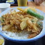小矢部川サービスエリア 下り線 レストラン - 白えび天丼 アップ