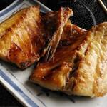 網元の宿 あお来 - お刺身定食の焼き魚(アジ)