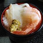 網元の宿 あお来 - お刺身定食の二椀目にオンザライス