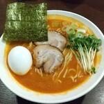 128415751 - 『 海老豚骨ラーメン64 』+『 ダシ注射式玉子 (うす味)』