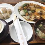 128416181 - 酢豚定食:¥1,050