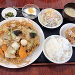 中華料理 張家 - 料理写真:五目バリそば定食 750円