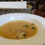 ブルスケッテリア デッリ アルティスティ - 先出スープはほっこり南瓜風味かな。