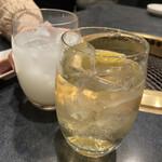 神楽 - カルピスとハイボールで乾杯♪(*^^)o∀*∀o(^^*)♪