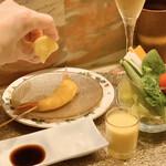 創作串揚げ専門店 ミラージュ - 料理写真:天使の海老にレモンを手絞り