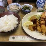 コジロ - 日替り定食500円(ミックスフライ)