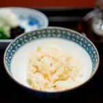 なかむら - お食事  筍ご飯、 香の物