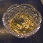 12844651 - 「山芋の短冊と??の酢のものかな?」・・女性スタッフの方はお料理の説明がないのですよ。