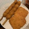 石原食肉店 - 料理写真:うずら、ハムカツ