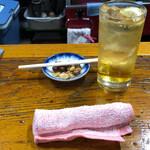 ゑびす  - 料理写真:焼酎ハイボール+お通し