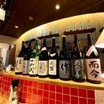 Mr.Happy  - カウンターの日本酒