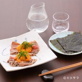 地元・富山の美酒はもとより、県外の日本酒も揃えて